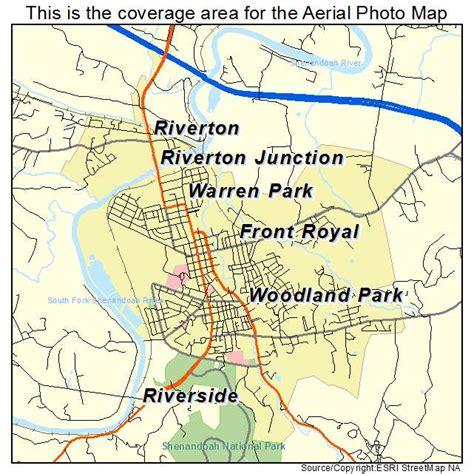 royal virginia aerial photography map of front royal va virginia