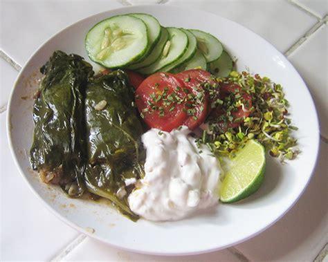 Ottoman Granola Original recipe riff chard other vegetables stuffed with rice raisins pine nuts improvised