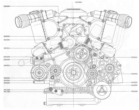 pattern development technical drawing v12 engine blueprint bmp 4mb front view proyectos que