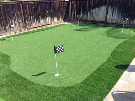 small backyard putting green artificial turf installation anchorage alaska putting