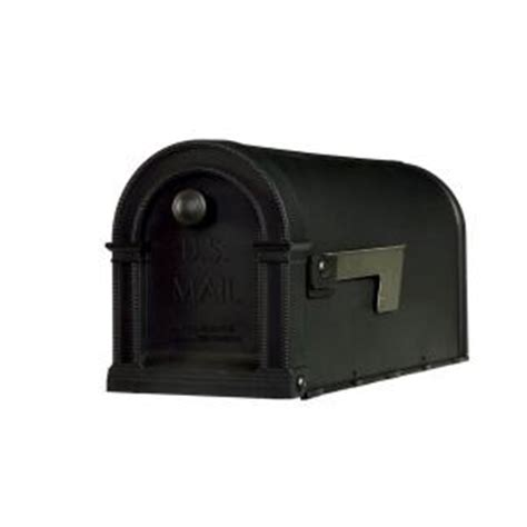 gibraltar mailboxes lincoln decorative plastic post mount