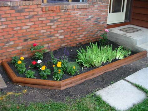 bloombety walls fencing flower bed with bricks tips for