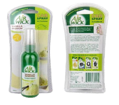Parfum Pesawat Callington 3 In 1 Spray Air Fresher Parfum Mobil air wick car spray air freshener vanilla premium fragrance scent ebay