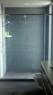 glass 4 quot x 12 quot subway tile shower tiles grey and