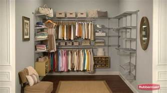 Rubbermaid Cabinet Organizer Rubbermaid Configurations Closet System Youtube