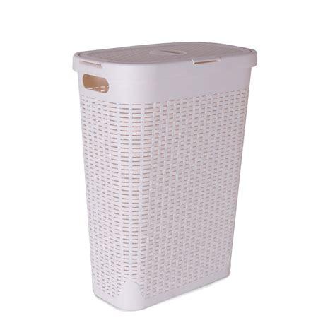 panier à linge design 3461 panier 224 linge cottage blanc l 26 8 x h 60 x p 46 2 cm