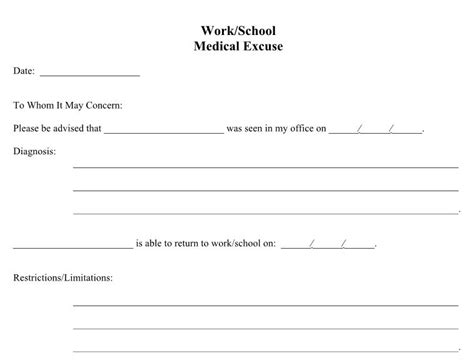 doctors note for school template 25 free doctor note excuse templates template lab