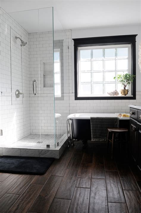 bathrooms with dark wood floors final master bathroom pics creativehomebody