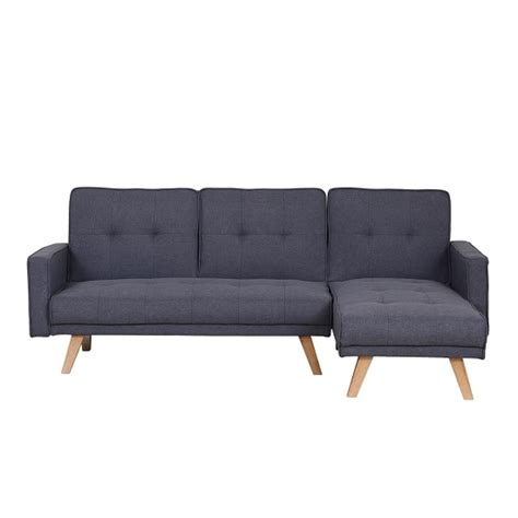 grey sofa with wooden legs cornis corner sofa bed in grey fabric with wooden legs