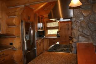 log kitchen cabin