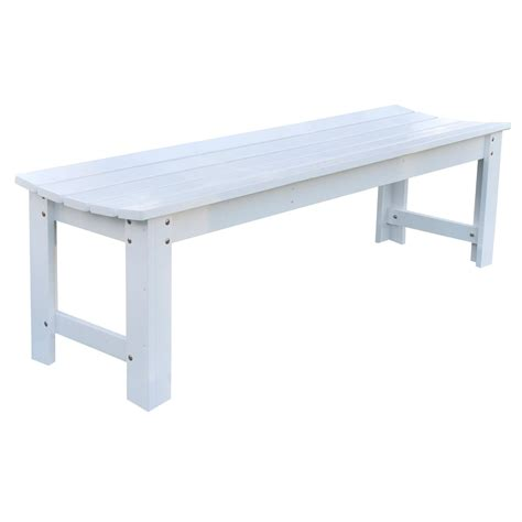 5 ft backless outdoor garden bench in cedar wood white fastfurnishings com