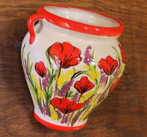 Poppy Planter by Cassis Poppy Lavender Wall Vase Wall Planter
