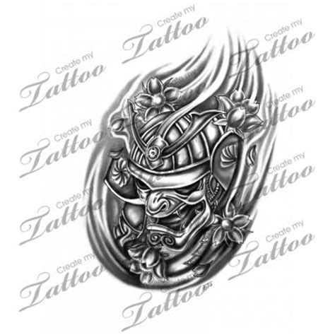 marketplace tattoo samurai mask 6848 createmytattoo com