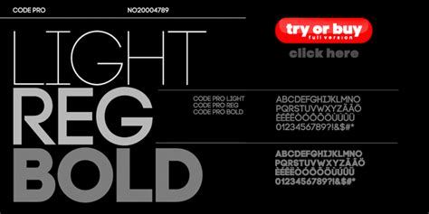 Code Light Font by Code Dafont