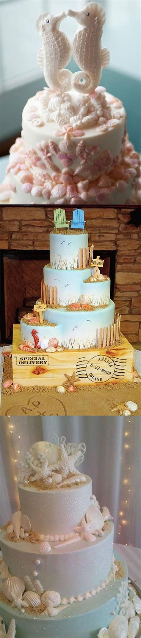 diy wedding cakes for beach theme weddings beach wedding