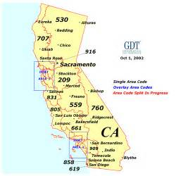 california area code map