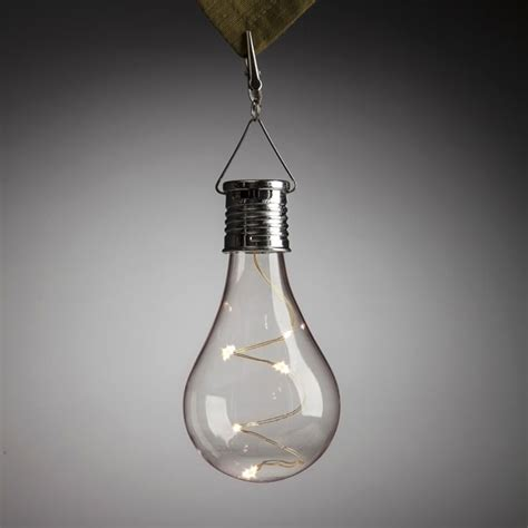 solar led light bulb 6 inch solar edison light bulb with clip buy now