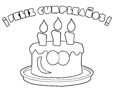 imagenes de cumpleaños para colorear e imprimir dibujo de feliz cumplea 241 os para colorear dibujos net