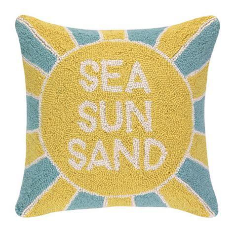 Sun Pillows sea sun sand hooked pillow