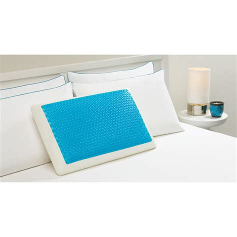 comfort revolution cooling bed pillow hydraluxe memory foam hydraluxe gel standard pillow