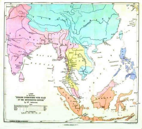 geopolitical map asia british intercourse  siam
