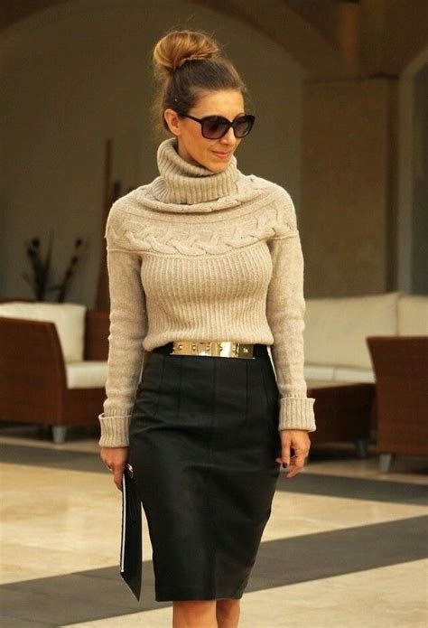 stylish fashion combinations with pencil skirt aelida