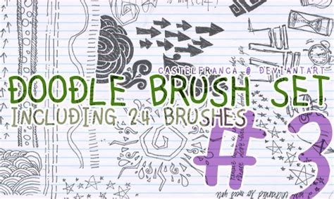 doodle photoshop 500 sketch photoshop brushes for effects