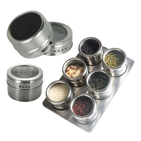 spice holder for 7in1 magnetic spice jar set rack holder seasonings