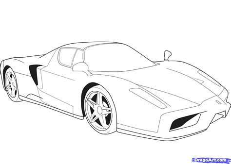 car drawing how to draw a ferrari step by step cars draw cars