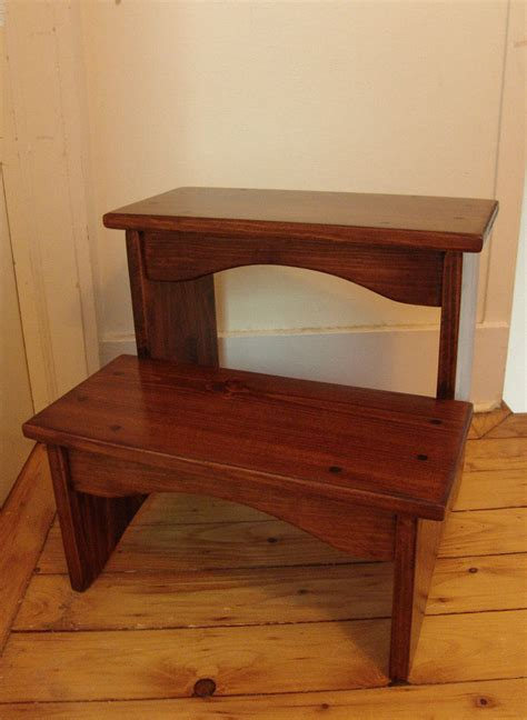 step stools for beds 16 quot tall handcrafted heavy duty step stool solid wood