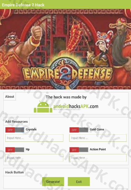 mod game empire defense 2 empire defense 2 hack apk crystals gold coins and hp
