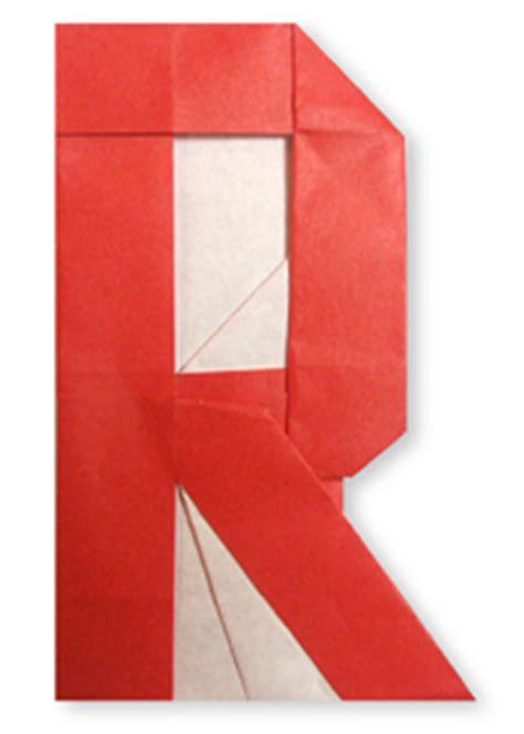 Origami Letter R - origami alphabet r