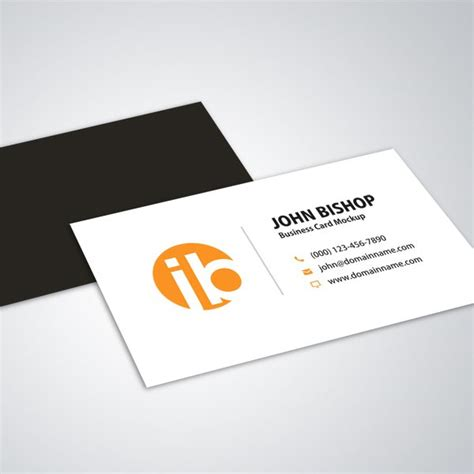 business card mockup template for coral psp modern simple business cards cyberuse