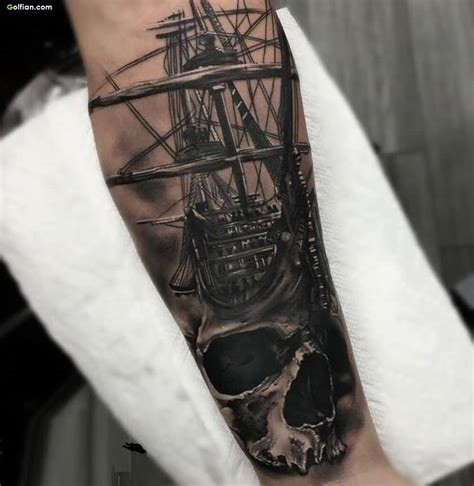 pirate ship tattoo 60 amazing forearm designs coolest lower arm