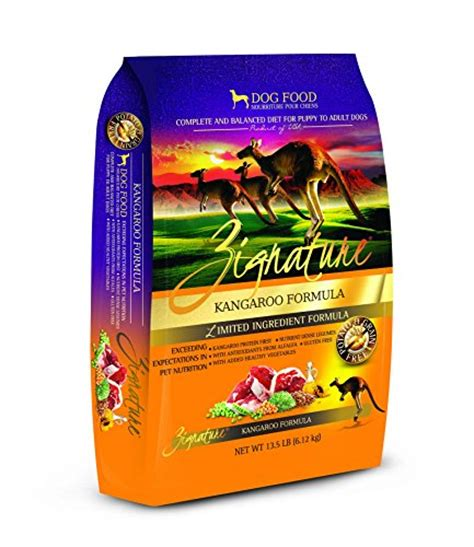 zignature kangaroo food zignature kangaroo formula food 13 5 lb animals pet supplies pet supplies supplies