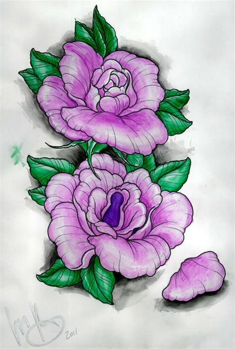 purple flower tattoo designs 17 best images about flower ideas on