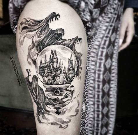 dementor tattoo harry potter with dementors hogwarts hogwarts