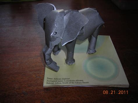 Paper Craft Elephant - elephant papercraft by alphawolfkodijr on deviantart