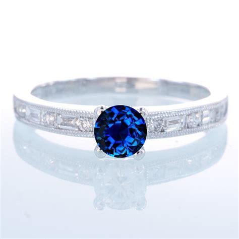 1 5 carat cut vintage sapphire and