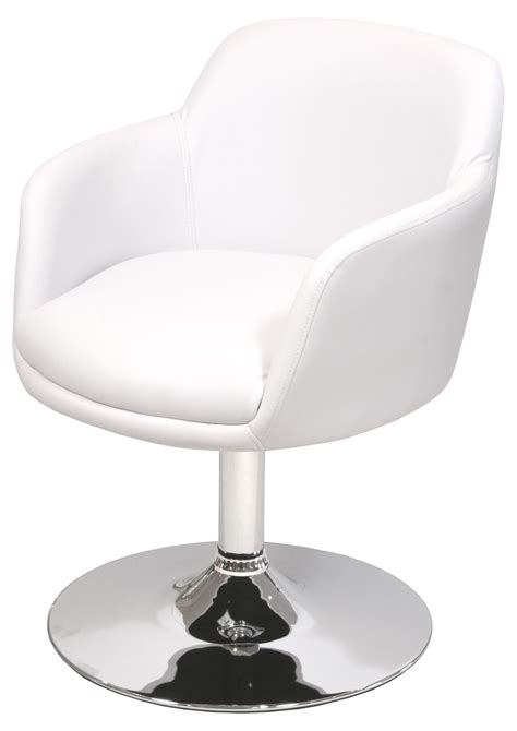 Plush swivel padded dining chair chrome frame modern
