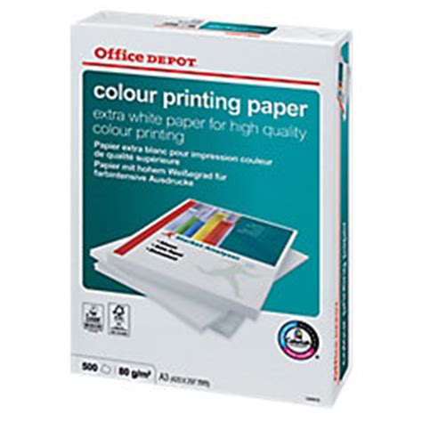 Office Depot Color Copies Papel Office Depot Color Printing A3 80 G M2 Blanco