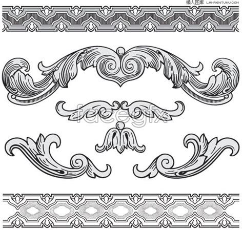 pattern classic vector classic european style black and white pattern vector