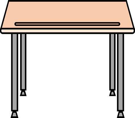 school desk clipart simple school desk