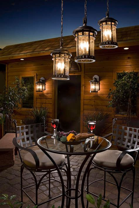 hanging lights in backyard outdoor hanging lanterns