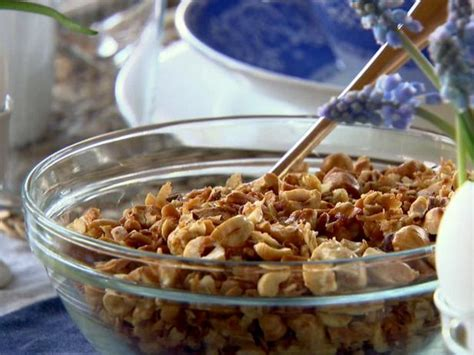 ina garten brunch recipes roasted hazelnut granola recipe ina garten food network