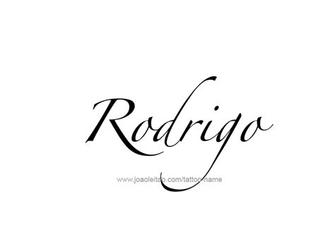 rodrigo name tattoo designs