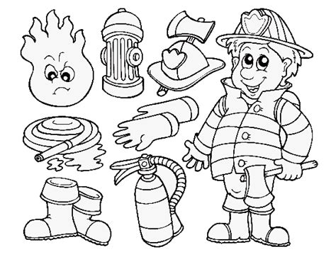 Thank You Fireman Coloring Pages by Firefighter Print Gif 576 215 445 Thank You Cards