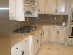 Granite Kitchen Cabinets New Venetian Gold Granite With White Cabinets Kitchen