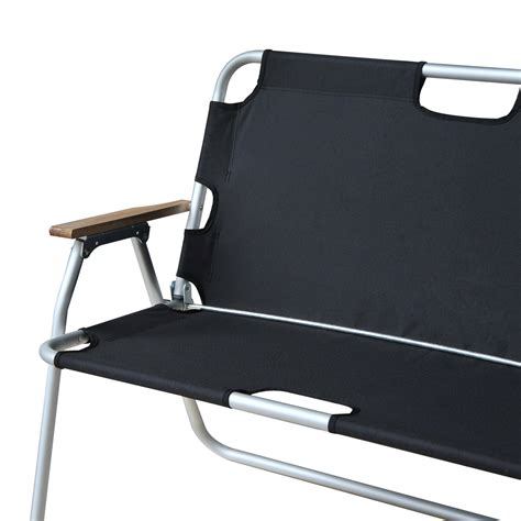 outsunny 2 person folding aluminum seat cing chair