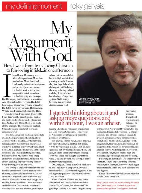Atheism Essay by Ricky Gervais Atheism Essay